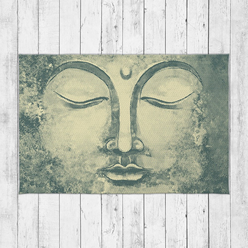 Yellow Buddha Area Rug - Brandless Artist