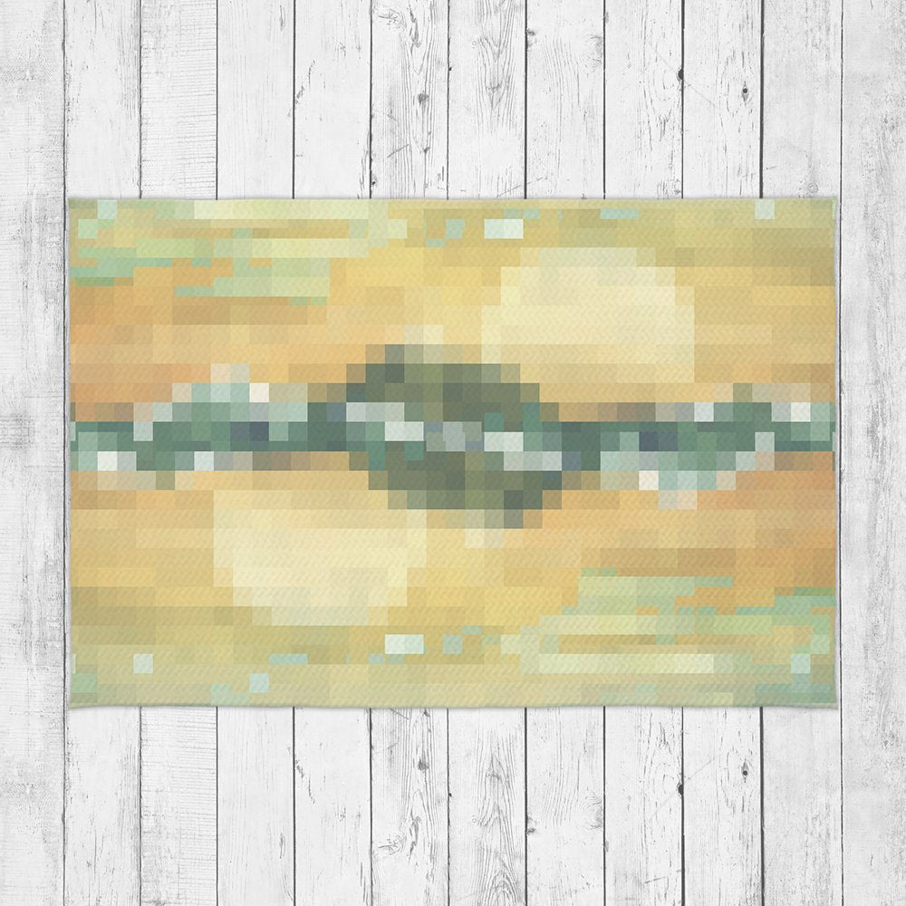 Cheap Accent Rug with Mountain Design - Retro Rug Floor Decor | Brandless Artist