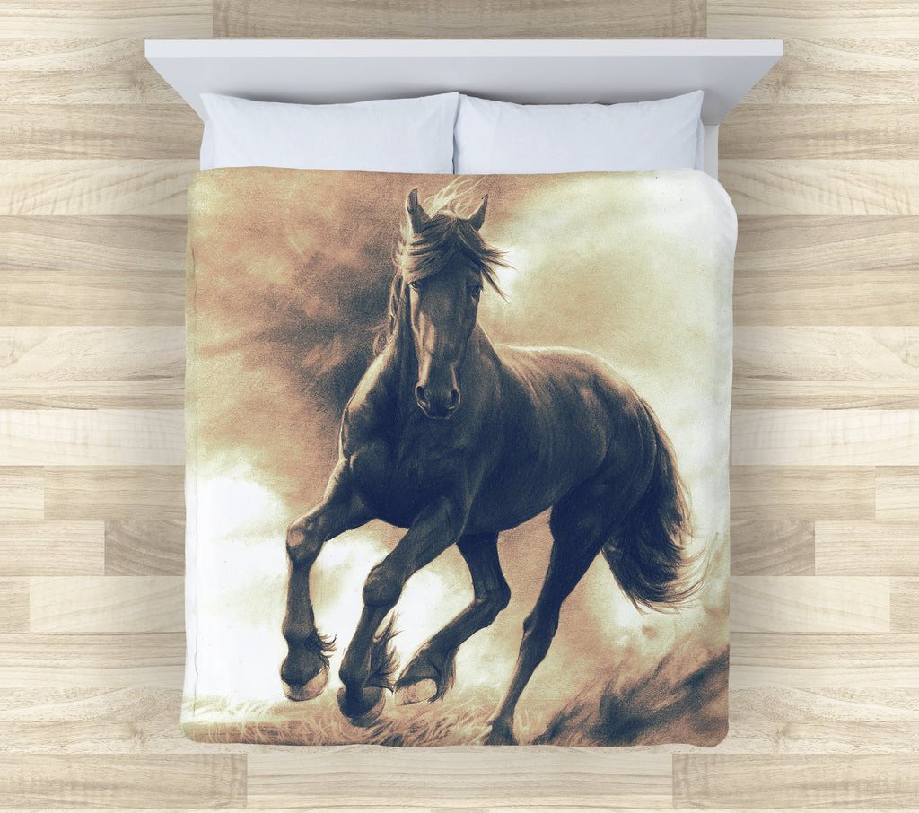 Horse Bedding | Horse Lover Comforter or Duvet Cover| Horse Lover Gift Bedding | Comforter and Duvet Covers for Horse Lovers - Brandless Artist