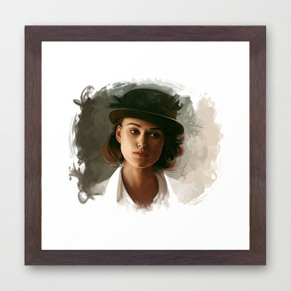 Keira Knightley painting art PRINT portrait art, GICLEE PRINT, Keira digital painting print, decorative handpainted home decor, Thubakabra - Brandless Artist