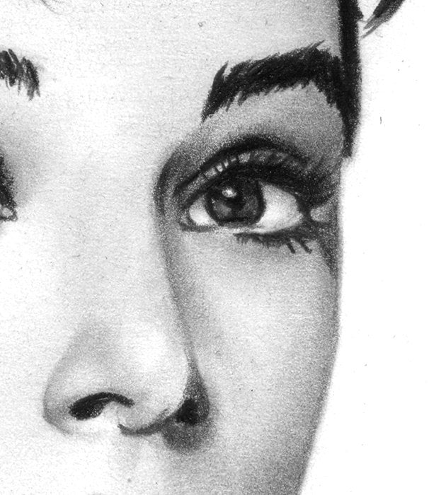 Audrey Hepburn Pencil Drawing Wall Hanging - Retro Poster | Brandless Artist