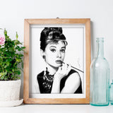 Large Wall Art of Audrey Hepburn, Golden Era Star Poster | Brandless Artist