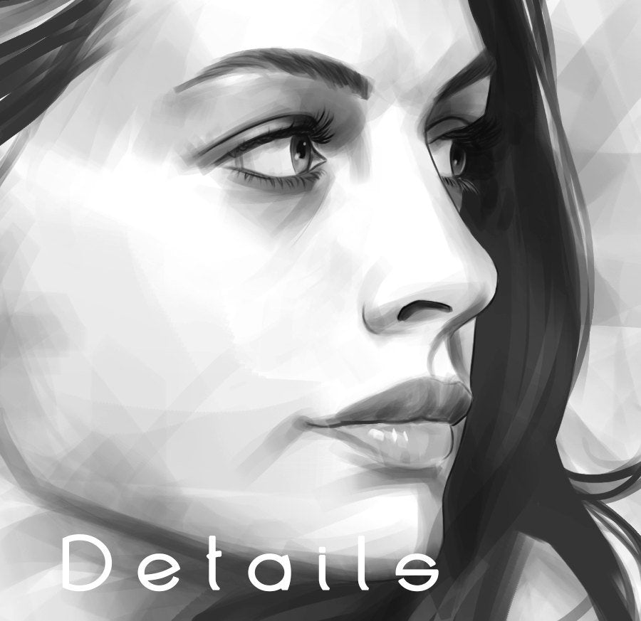 Anne Hathaway Art Print for Fans - Inspired Digital Painting | Brandless Artist