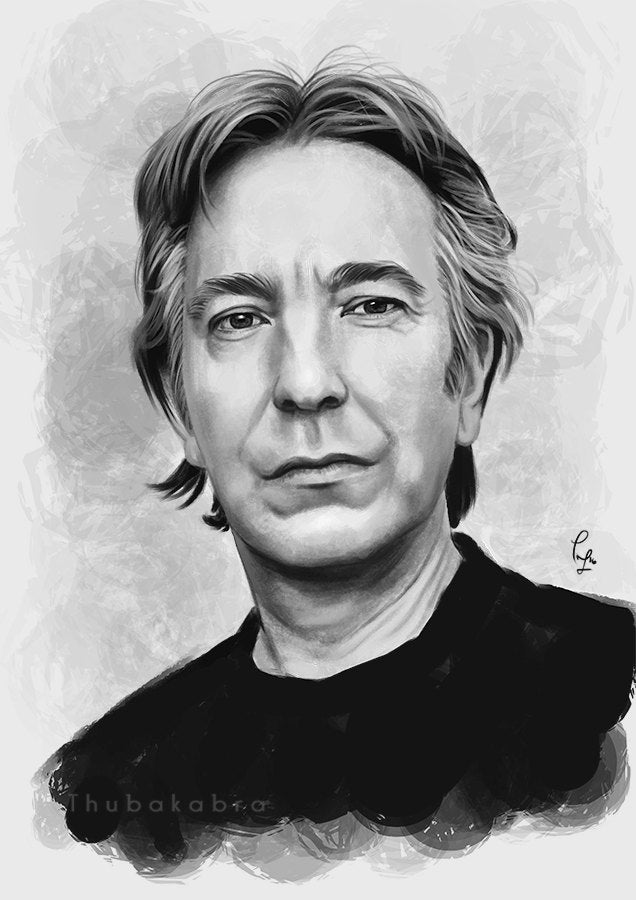 Alan Rickman Art Poster Wall Hanging - Rickman Painting Home Decor | Brandless Artist