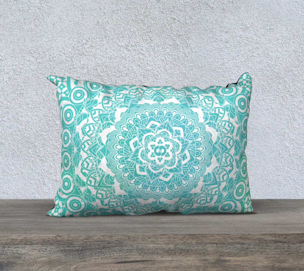 Aqua Pillowcase Turquoise Rectangle Pillow | Brandless Artist