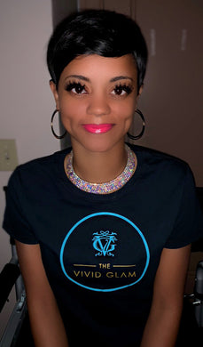 The Vivid Glam Beauty Exclusive Logo Women's T-Shirt