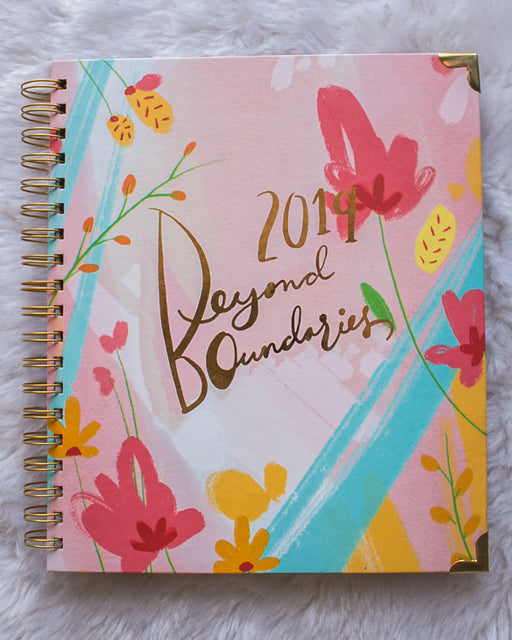 Beyond Boundaries 2019 - Yearly Planner (Floral)