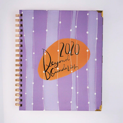 Beyond Boundaries 2020 - Yearly Planner (Purple)