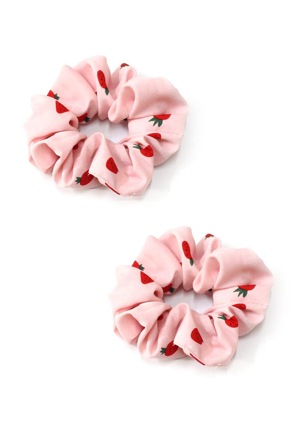 Strawberry Scrunchies - 2 Pack