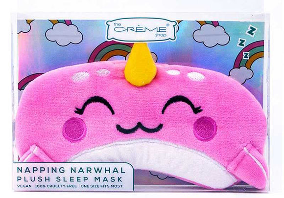 Plush Sleep Mask - Napping Narwhal