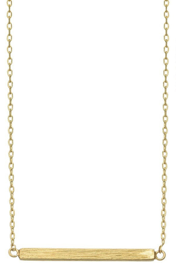Gold - Bar Necklace