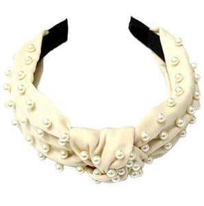 Pearl Embelllished Headband - Ivory