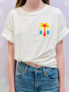 Printed Palm Tree Tee