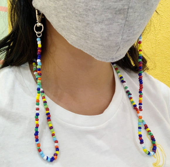 Multi-Colored Beaded Mask Chain