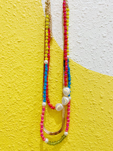 Beaded + Gold Chain Necklace Trio