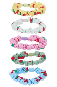 Strawberry Mini Scrunchies - 5 Pack