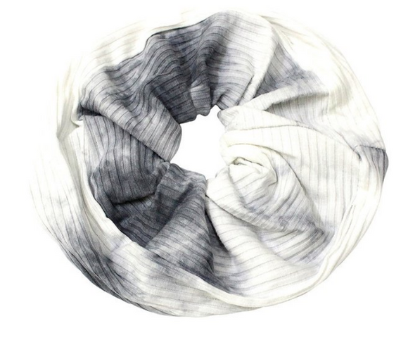 White + Gray Tie Dye Mega Scrunchie