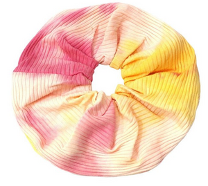 Pink + Orange Tie Dye Mega Scrunchie