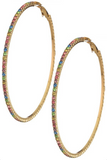 Crystal Rainbow Hoops