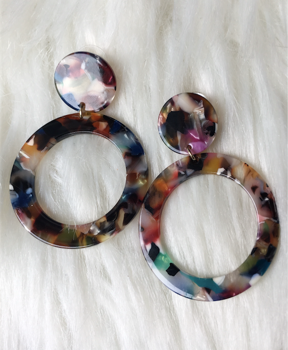Multi - Acrylic Earrings