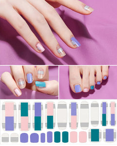 Gel Nail Strips - PURPLE CITY