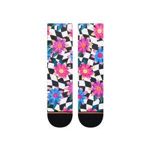 Socks - Crazy Daisy Crew Black