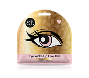 Eye Woke Up Like This - Gold Foil Eye Mask