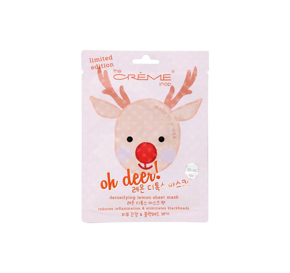 Oh Deer! Holiday Detoxifying Lemon Sheet Mask