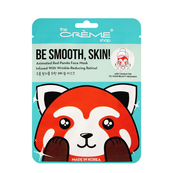 Be Smooth Skin! Animated Red Panda Face Mask