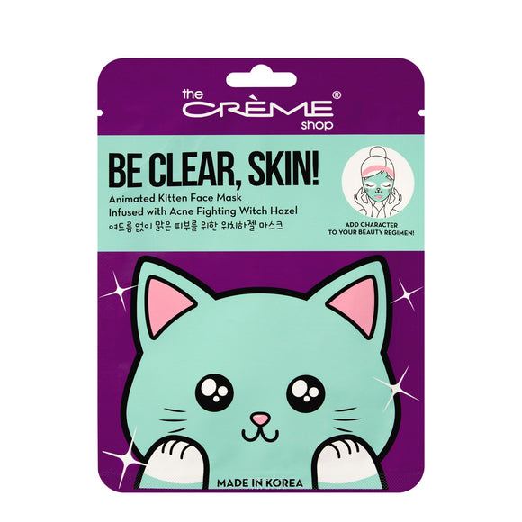 Be Clear Skin! Animated Kitten Face Mask