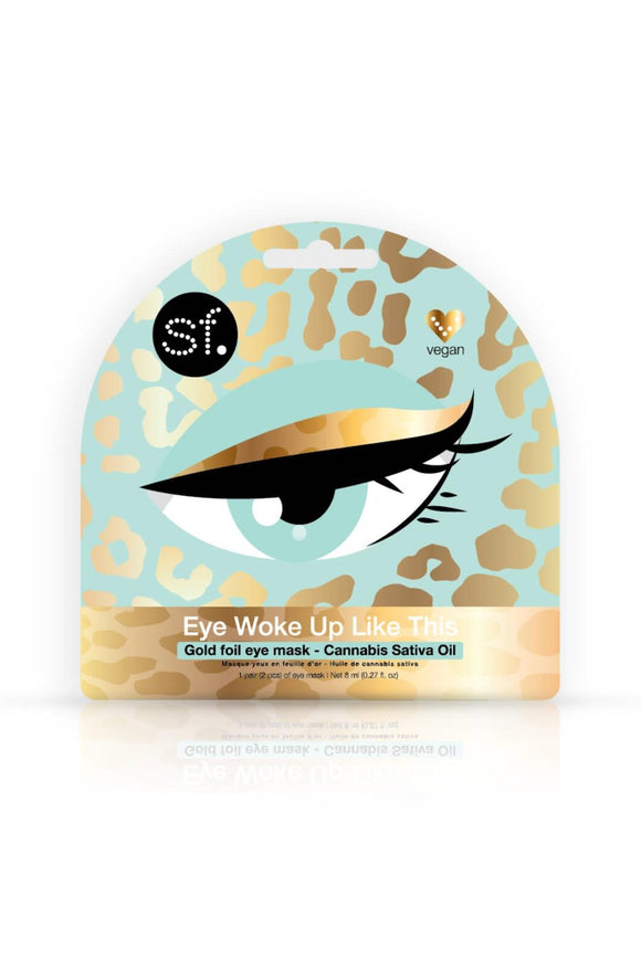 Eye Woke Up Like This - Gold Foil Eye Mask With Cannabis Sativa Seed Oil (18+ only)