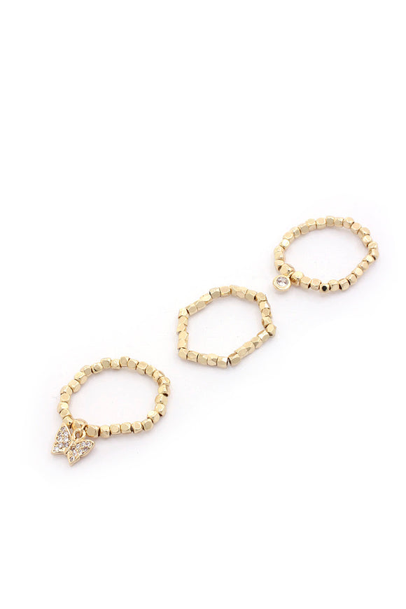 Dainty Butterfly Ring Set