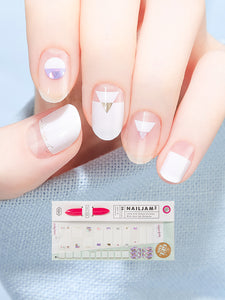 Nail Gel Stickers FRENCH MACARON -8S29