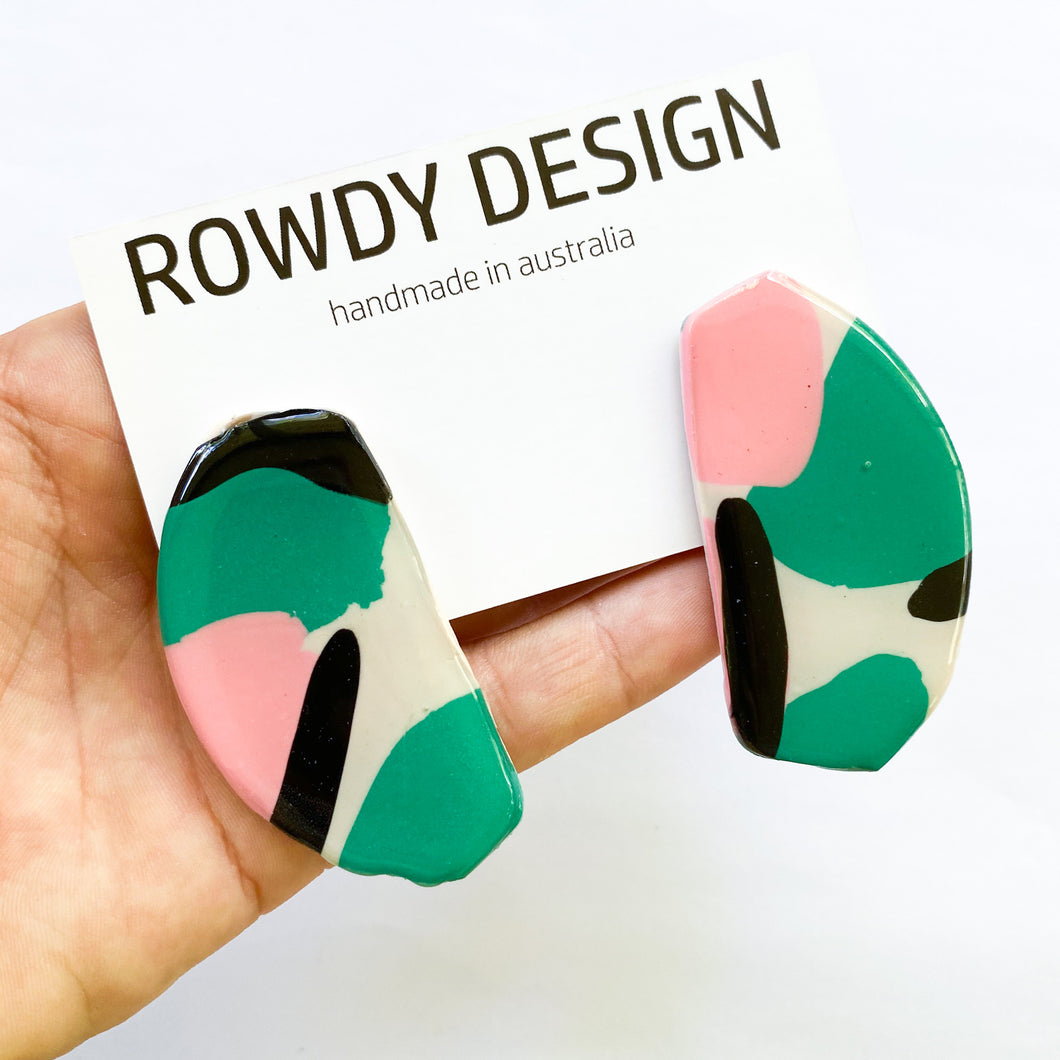 Art Statement Stud Earrings