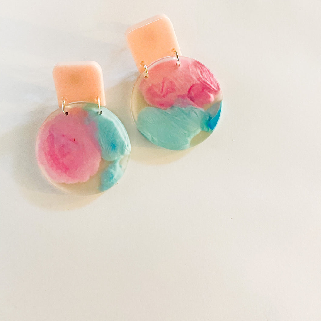 Explosion Dangle | Small - Pink + Blue