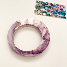 Statement Round Bangle | Purple Swirl