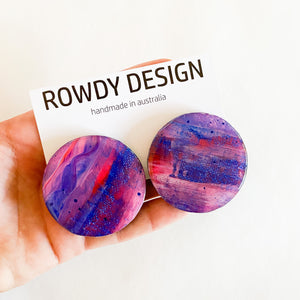 ROWDY PAINT SERIES studs | you spin me RIGHT round BABY
