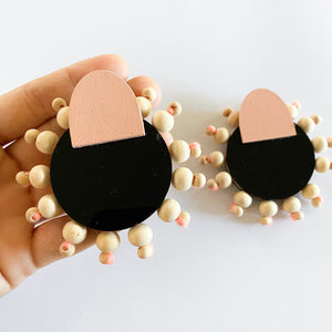 Full Circle Beaded Mumba Studs