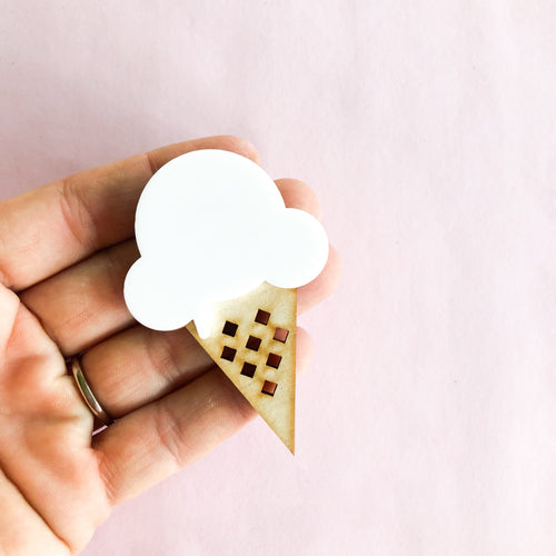we all SCREAM for ICE CREAM brooch | ROWDY PLAY accessories