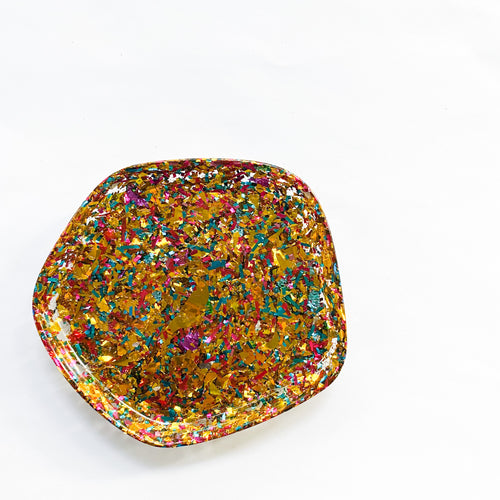 IT'S A CONFETTI PARTY  Resin Ring Dish