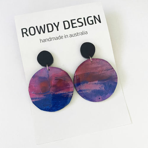 ROWDY PAINT SERIES dangles | you spin me RIGHT round BABY