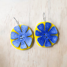yellow SPECKLED FLOWER dangle | ROWDY PLAY accessories