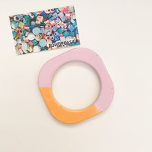 Statement Square Bangle | Magenta + Orange