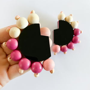 The Cut-Out Beaded Mumba Studs
