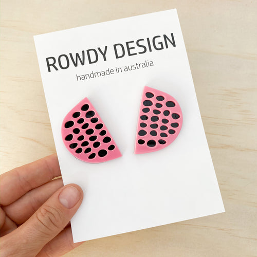 abstract WATERMELON studs | ROWDY PLAY accessories