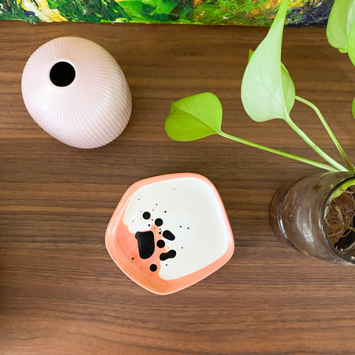 COLOUR ME SPECKLE Resin Ring Dish | One of a Kind | Apricot