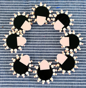 Half Moon Beaded Mumbas Studs
