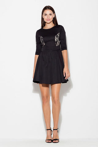 Dress With Lace Insert - FashionPriceKilla