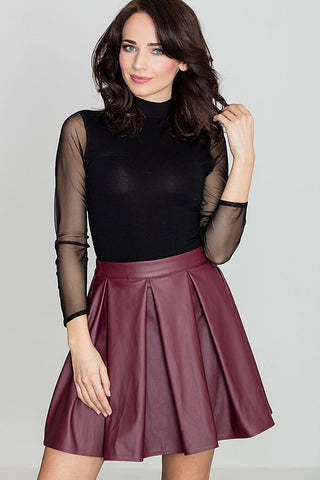 Eco Leather Skater Mini Skirt - FashionPriceKilla