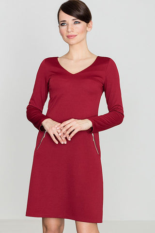 Stylish Zip Pockets Dress